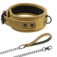 Collar de cuero vegano Fetish Submissive origen